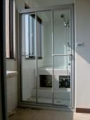 一字型有框淋浴拉門-強化玻璃