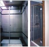一字型簡框淋浴拉門-強化玻璃